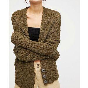 Free People Fun Time Cardi Knitted Cardigan M New